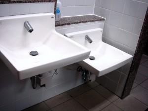 高さ違いの手洗い